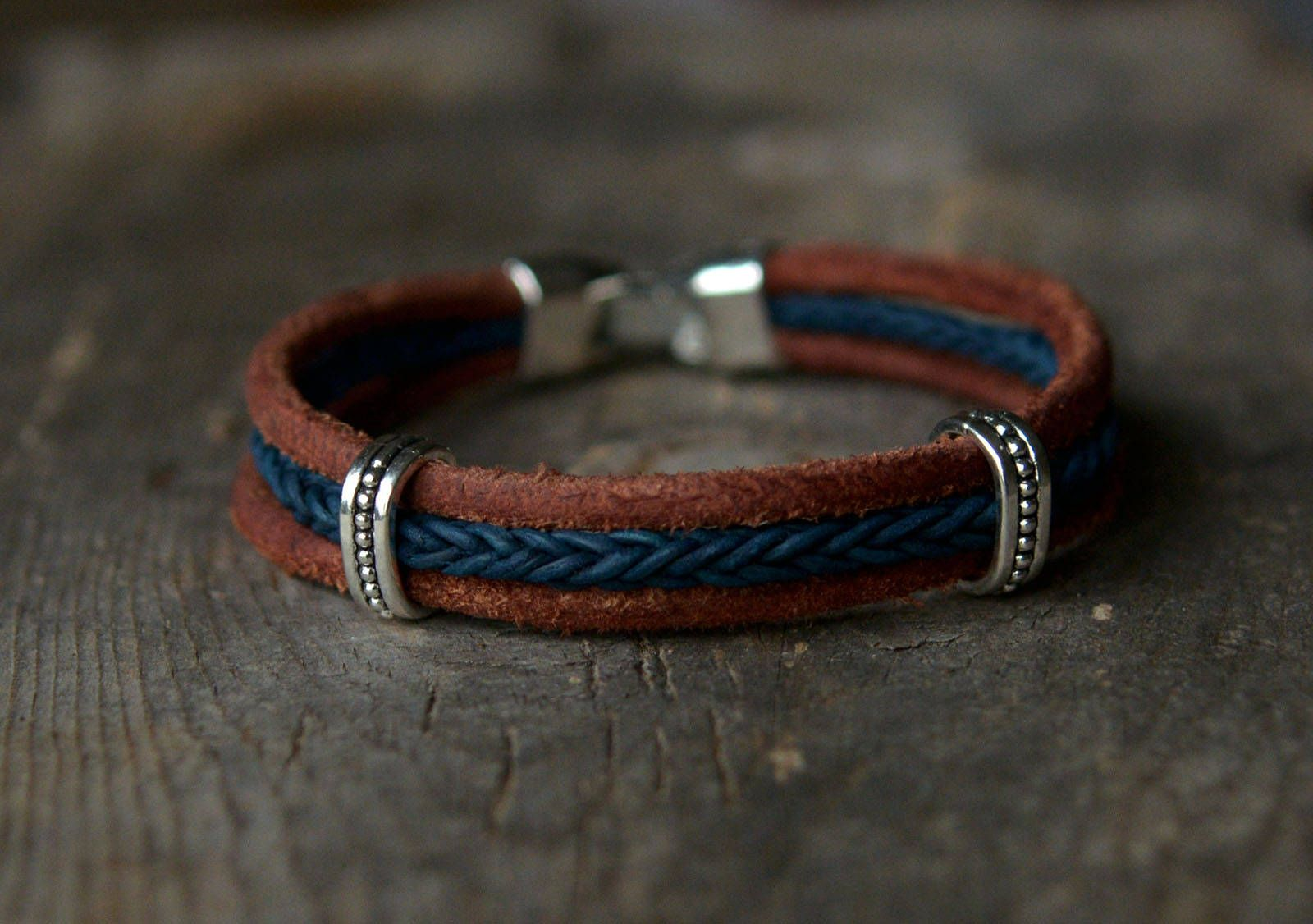 Mens Leather Bracelet Bracelets Men Jewelry Gift For Him