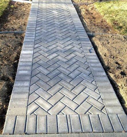 Disain untuk Pemasangan Paving Block  Jalan taman, Pertamanan belakang rumah, Jalan tapak taman
