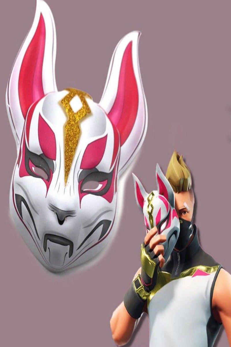15.95 Fortnite Unisex Fox Drift Skin Mask Cosplay