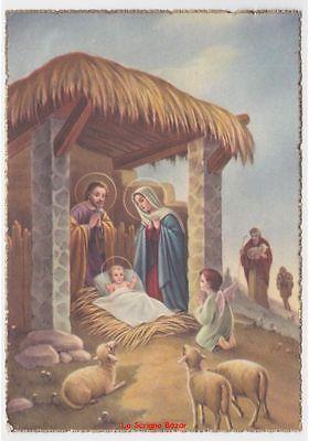 Immagini Natalizie Sacre.Cartolina Religiosa Vintage Auguri Di Natale Nativita Sacra