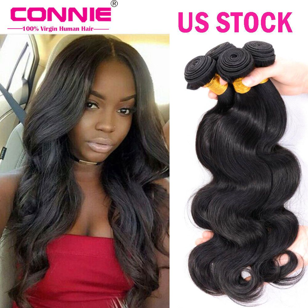 Brazilian Body Wave Human Hair Weft Remy Straight Hair Extensions 3