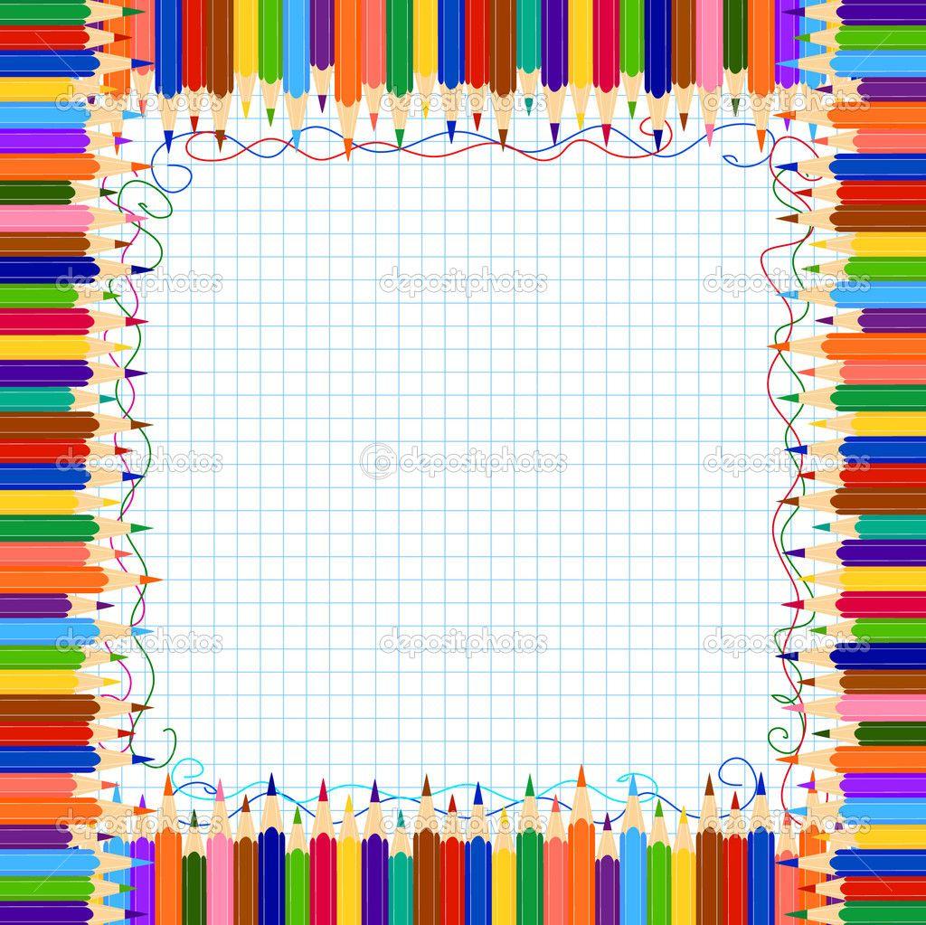 school teacher clip art   Pencil border   Stock Vector ...
