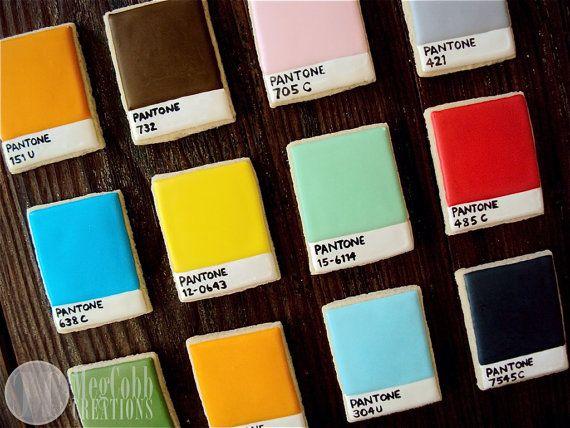 Pantone Chip Sugar Cookies, colors, colorful, rainbow, Pantone, graphic design, art, paint, ink, design, art student, artist, pallet, cookie