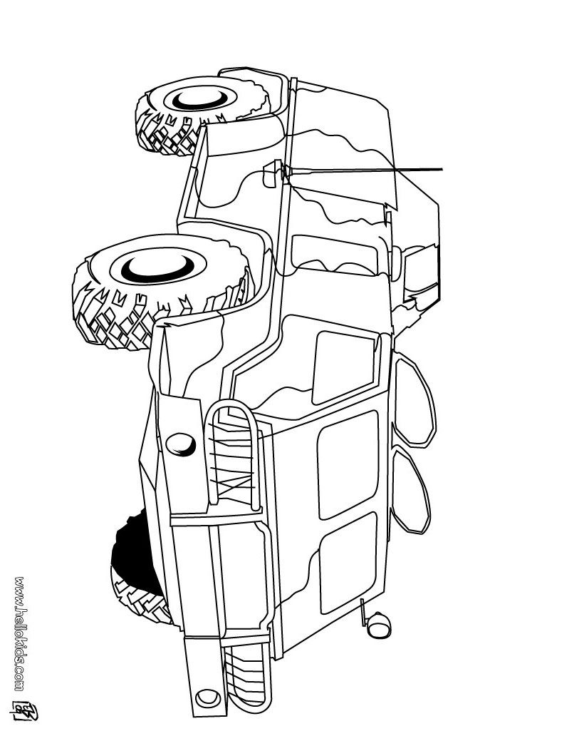 military vehicle coloring pages print or color online things for the kids coloring pages. Black Bedroom Furniture Sets. Home Design Ideas
