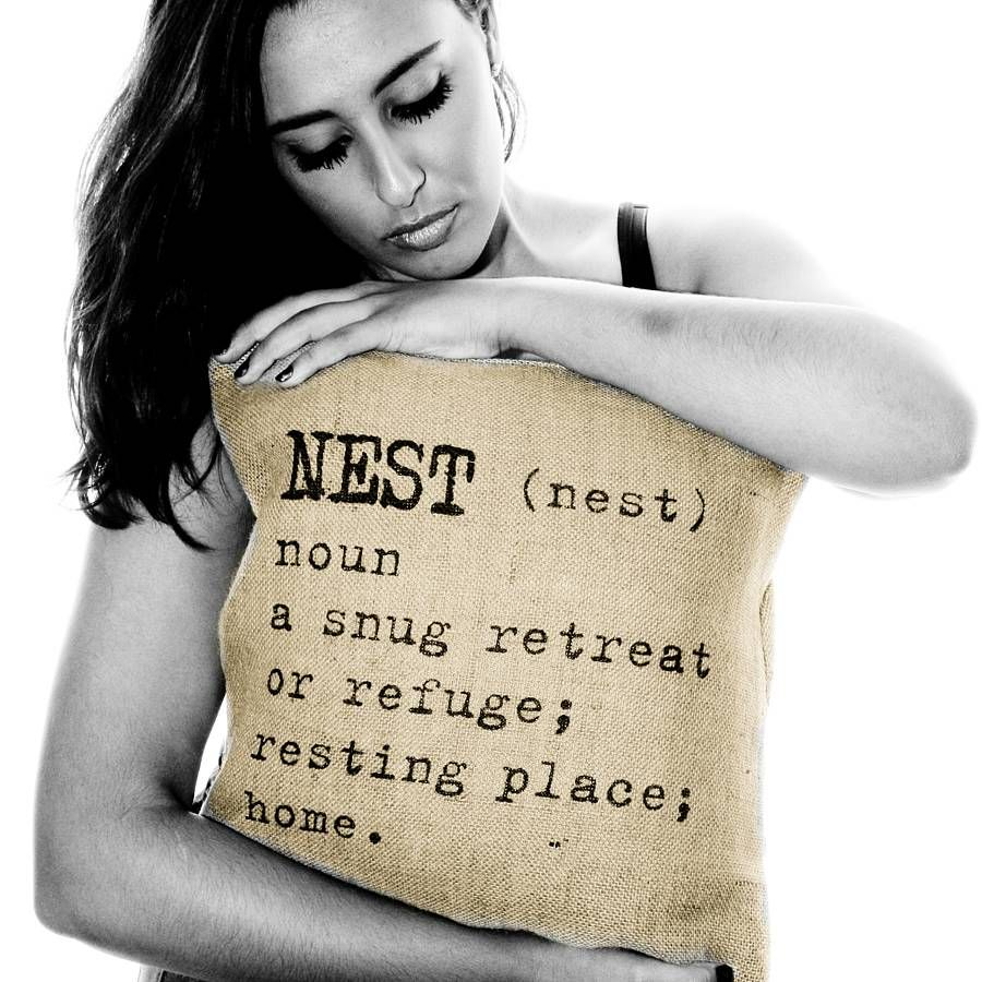 'nest' Definition Cushion Cover By Betsy Jarvis