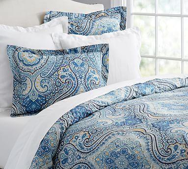 Beale Paisley Duvet Cover Sham Paisley Duvet Paisley Bedding Blue Bedding
