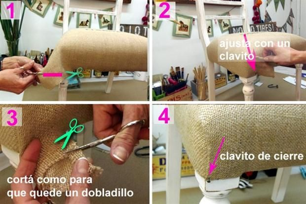 C mo tapizar una silla paso a paso ideas para for Como tapizar una silla
