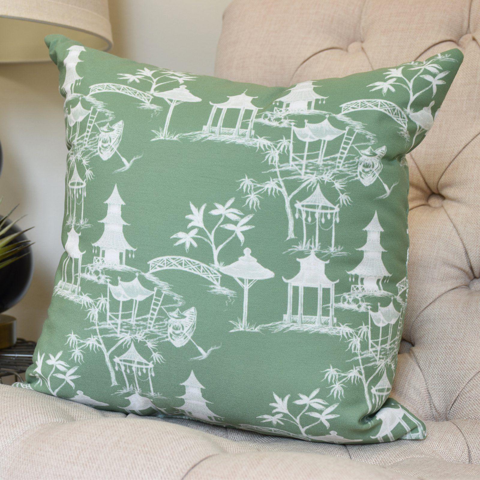 Aqua E by design Decorative Pillow Green