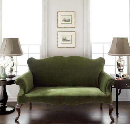 Martha Stewart Furniture For Interior Designs Interior Design Home Design Green Sofa Green Velvet Sofa Furniture