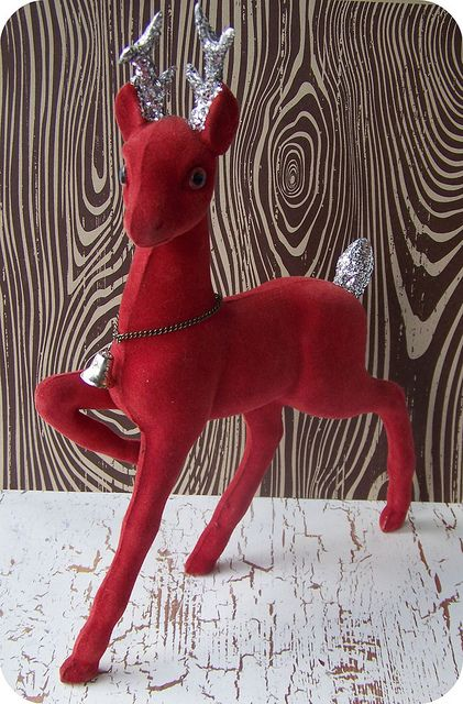 """Another reindeer from my collection. A super buy at a local """"antique"""" store and it is in super condition."""