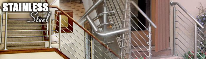 Stainless Steel Handrails Components With Wood And Steel   May Provide  Elements For Custom Handrails (