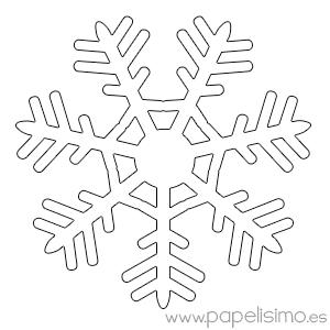 Copos de nieve para colorear - Plantillas para pintar paredes para imprimir ...
