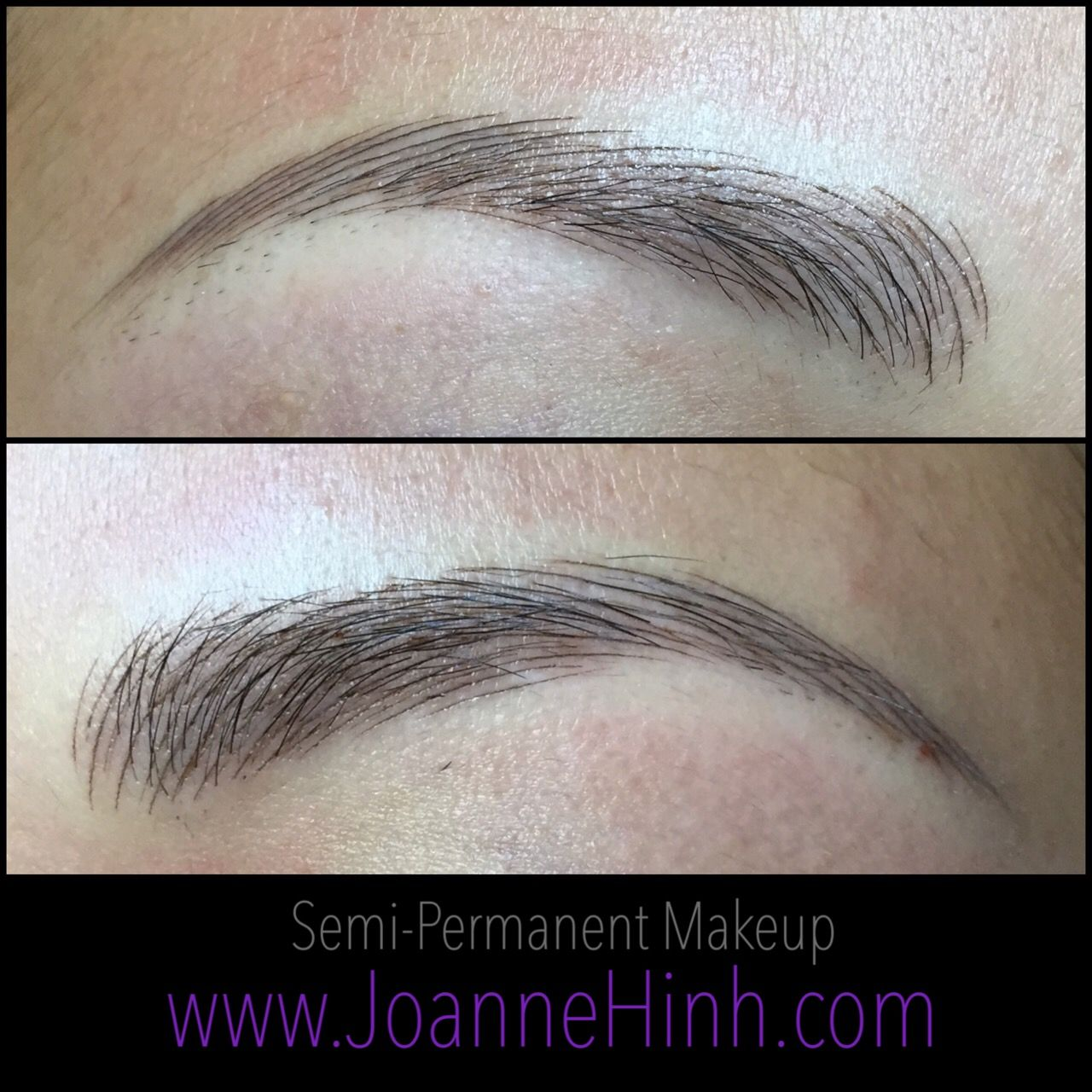 Hairstroke Eyebrow Embroidery By Joanne Hinh. Brow Embroidery. 3D Brow Tattoo. Feathering ...