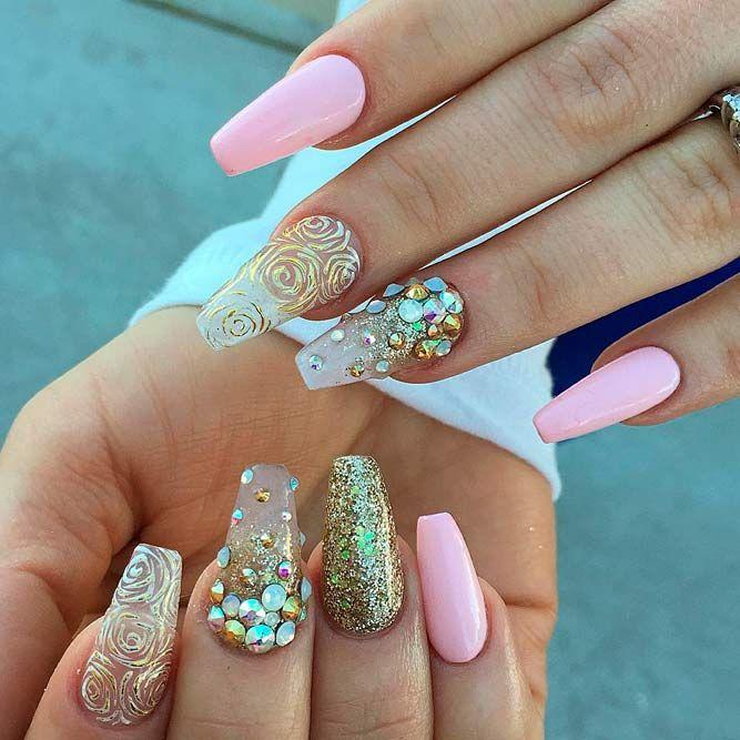 45 Best Long Nail Designs For Glamorous Girls | Pinterest | Long ...