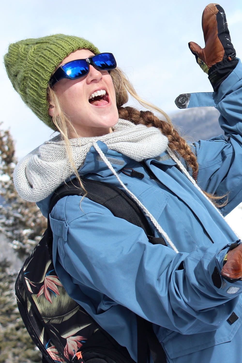 Neera Midnite Oil (Blue Mirror) fitover sunglasses by Jonathan Paul® are perfect for adventures in the snow. With 100% UVA/UVB protection, durable polycarbonate lenses and TR-90 Crystal Nylon™ frames, and 35 mirror lens styles, they're the best sunglass for your winter adventures!