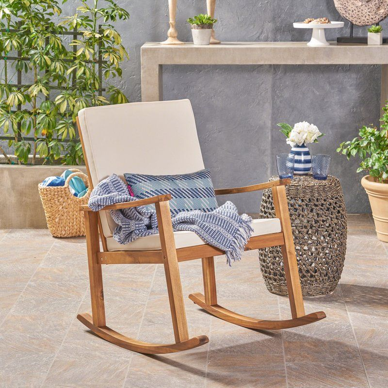 buy popular c774a 90430 Arend Outdoor Rocking Chair with Cushions | Design | Outdoor ...