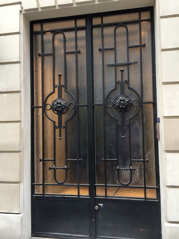 Wrought Iron Double Doors 1950s Update Google Search Exceptional