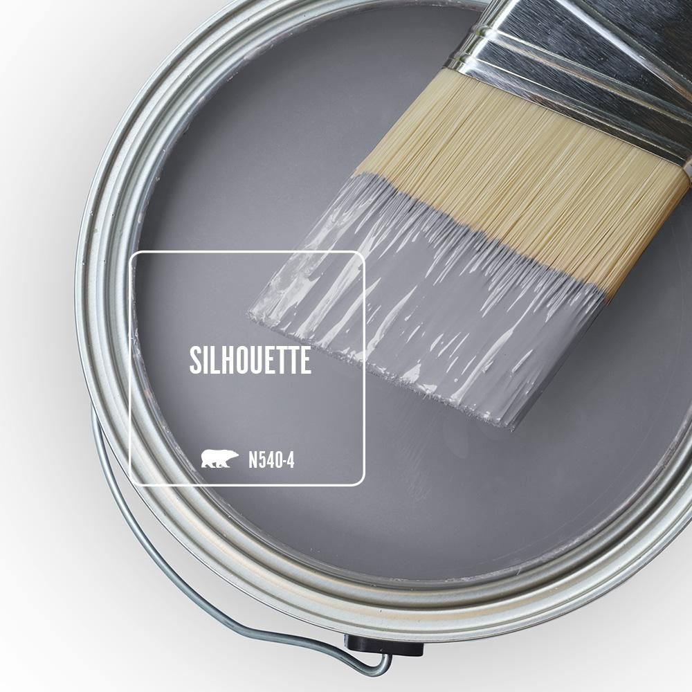 Behr Marquee 1 Qt N540 4 Silhouette One Coat Hide Matte Interior Paint Primer 145404 The Home Depot Behr Marquee Paint Exterior Paint Interior Paint
