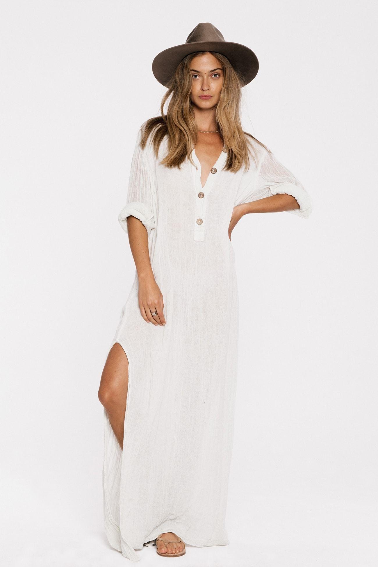 Gauze Borneo Maxi Dress Maxi Dress With Sleeves Summer Maxi Dress Maxi Dress [ 1950 x 1300 Pixel ]