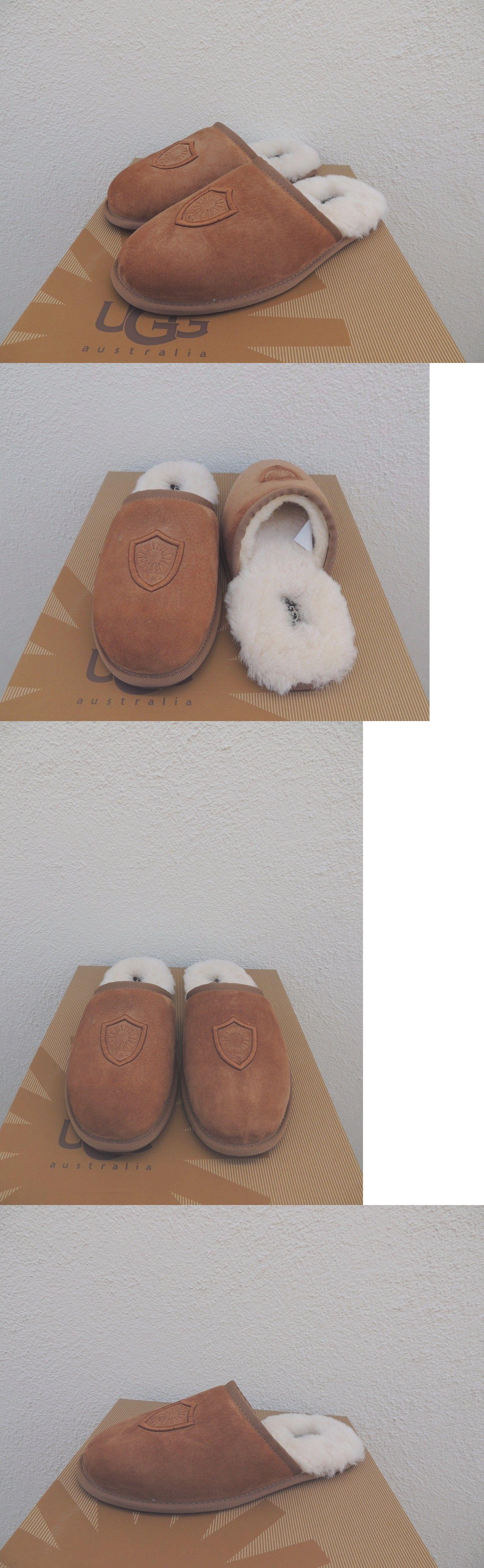 a83169f0f33 Slippers 11505  Ugg Scuff Noble Chestnut Suede Sheepskin Slippers ...
