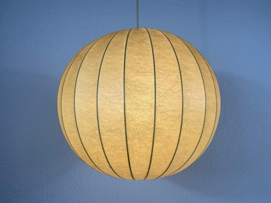 Mid-Century Modern Round Cocoon Pendant Lamp, Italy, 1960s for sale at Pamono