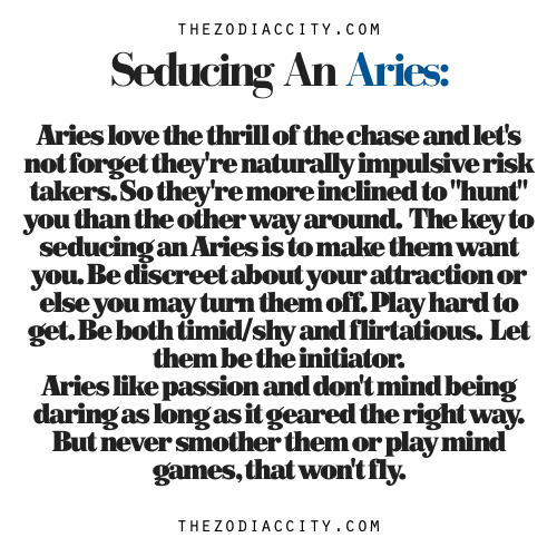 How To Woo An Aries Man