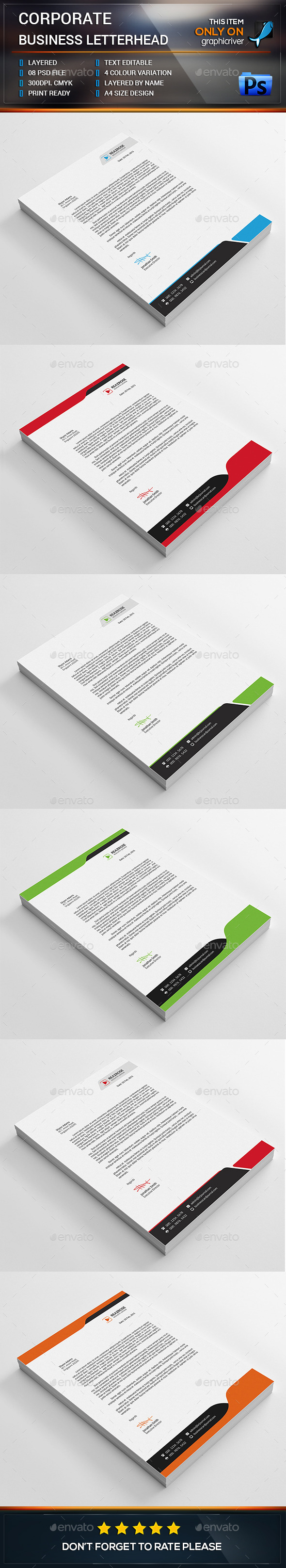 Corporate Business Letterhead Bundle  All Things Healthy