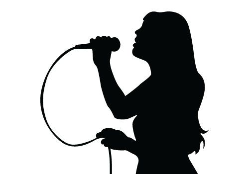 Singing Silhouette Vector Free Download Music Vectors Music Silhouette Silhouette Free Silhouette Illustration