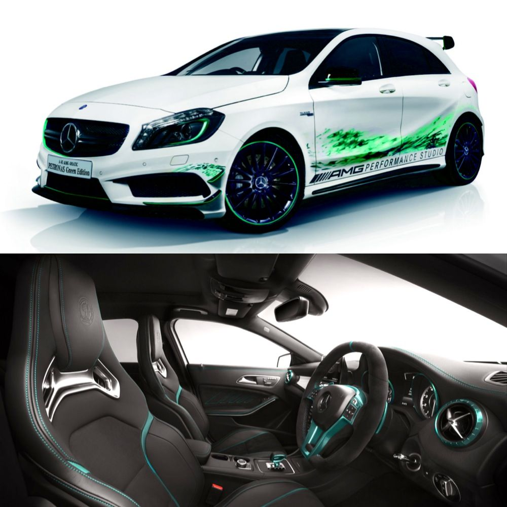 The #MercedesBenz #A45 #AMG Petronas Green Edition Was