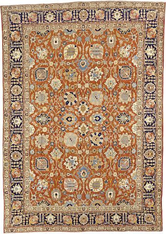 A Tabriz Carpet Northwest Persia Size Approximately 9ft X 12ft 10in Rugs On Carpet Persia Carpet