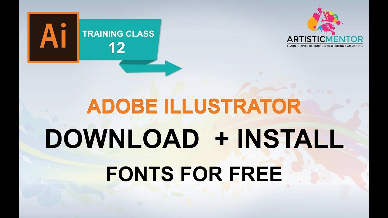 Adobe Illustrator Training Class 12 - How to Download and
