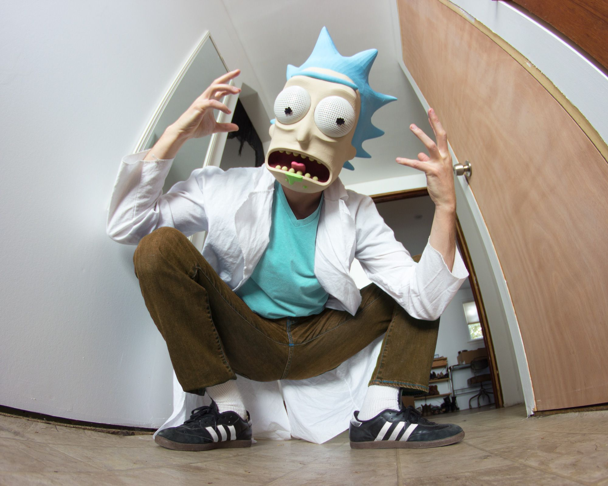printed my Rick Sanchez mask for halloween!