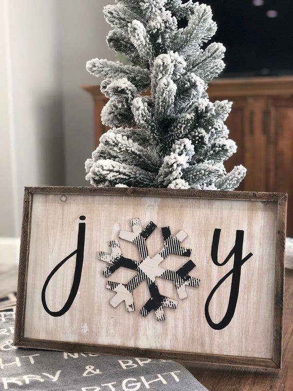 Photo of Christmas JOY Sign Barnwood Frame Sign Christmas sign image #chr