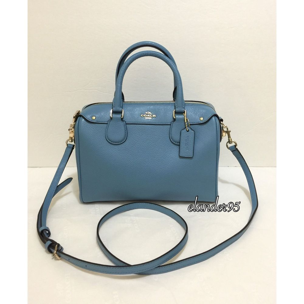 326dbc8b7fe2 Coach Mini Bennett Satchel Medium Shoulder Bag Crossbody Leather Bluejay  Blue  Coach  Satchel