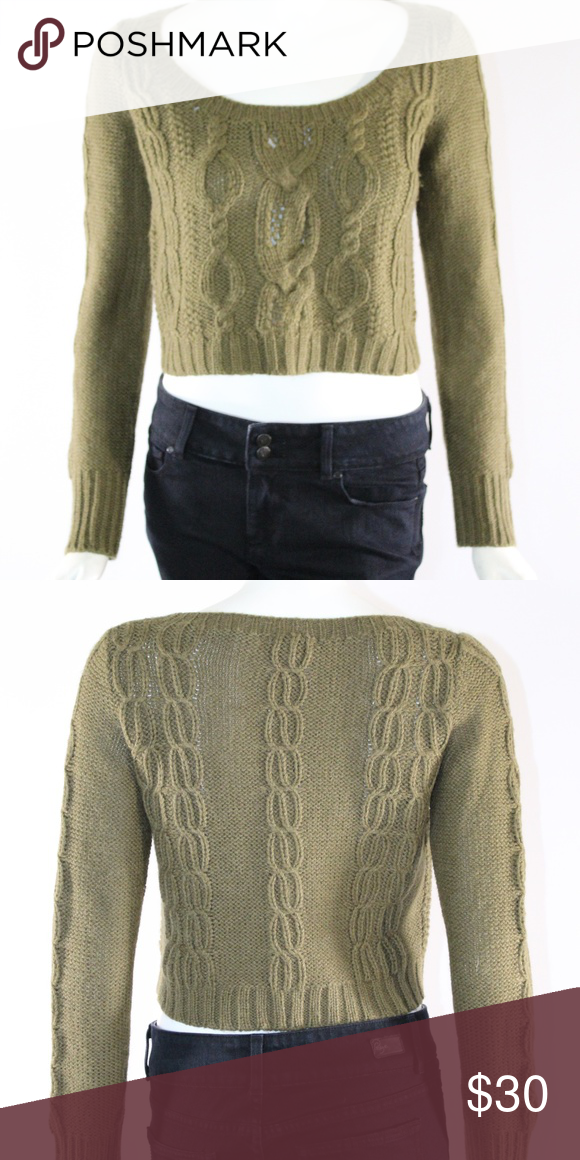 e600458a8 Anthropologie Guinevere Cropped Sm. Olive Sweater