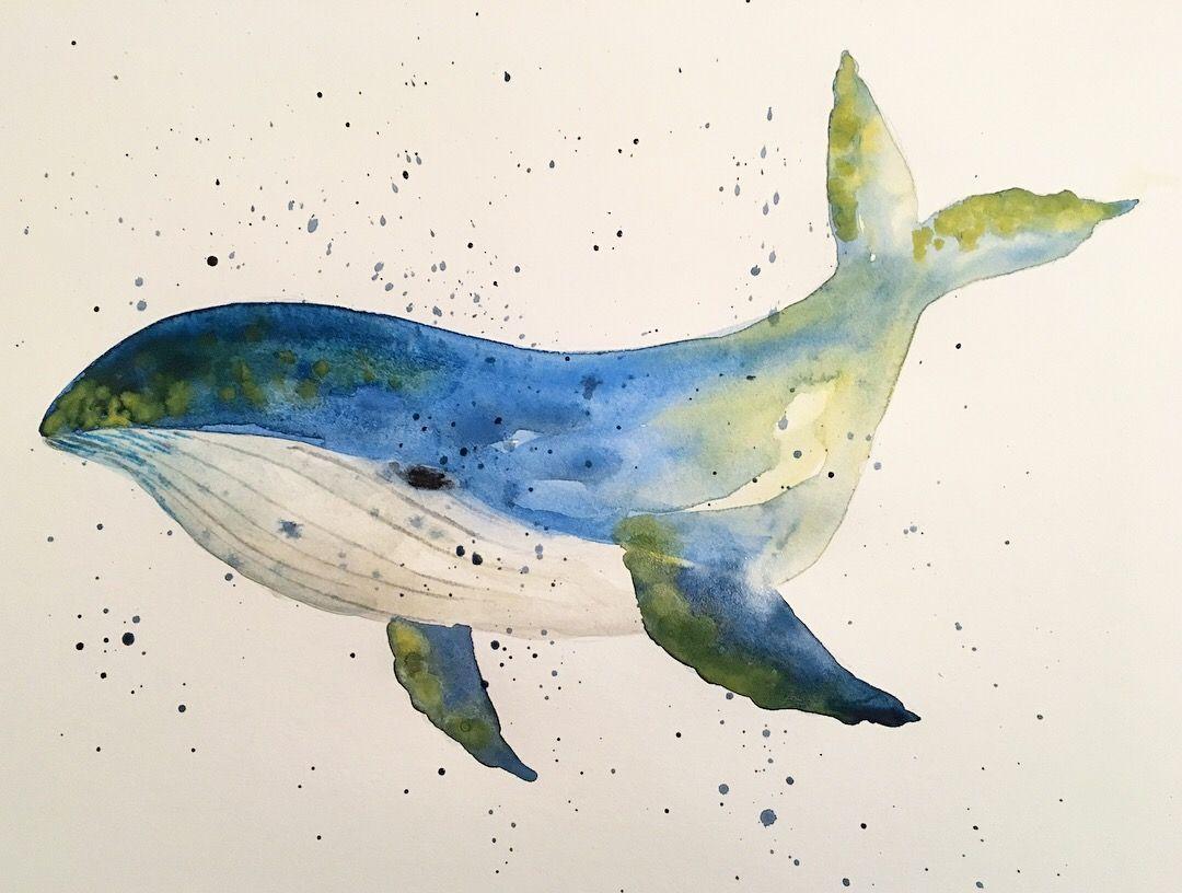 Baleine A L Aquarelle Dessin Aquarelle Aquarelle Painting