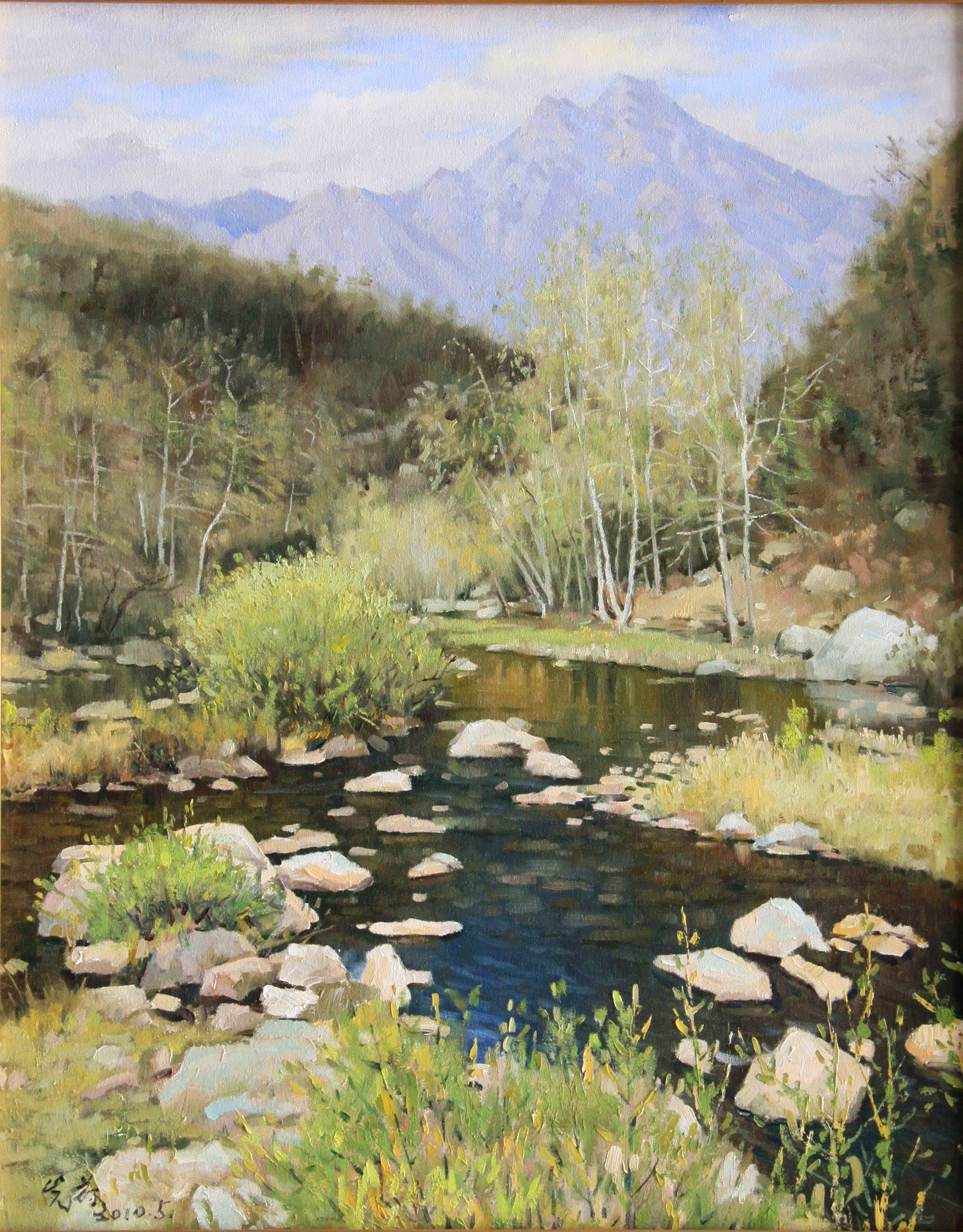 Another piece of painting about the scene of early summer