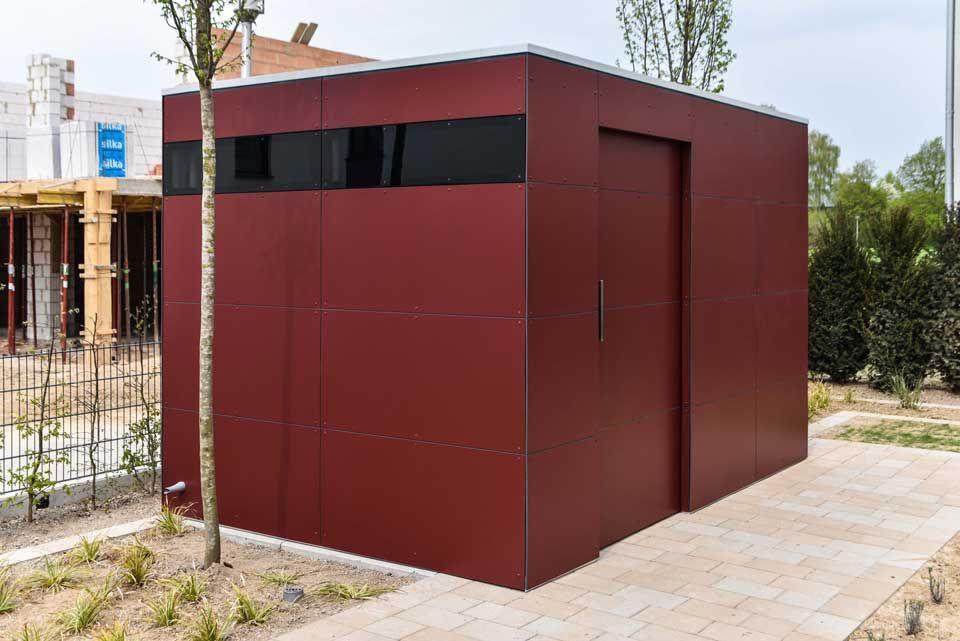 design gartenhaus _gart drei vine red, Fahrradhaus