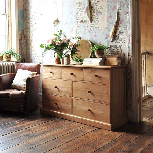 Cheap Furniture With Delivery: Georgian Oak 3 Over 4 Chest Including Free Delivery (605