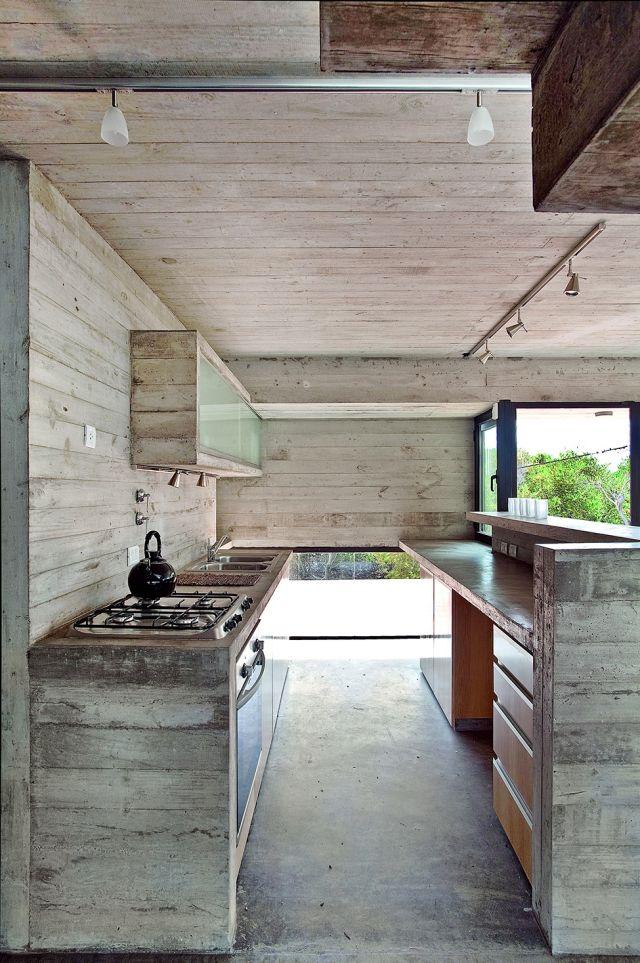 Küche Design-Vintage raue Optik-holzdielen rustikal-abgeblätterte ...