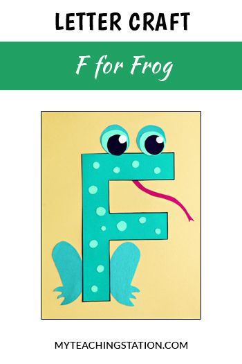 letter f craft frog