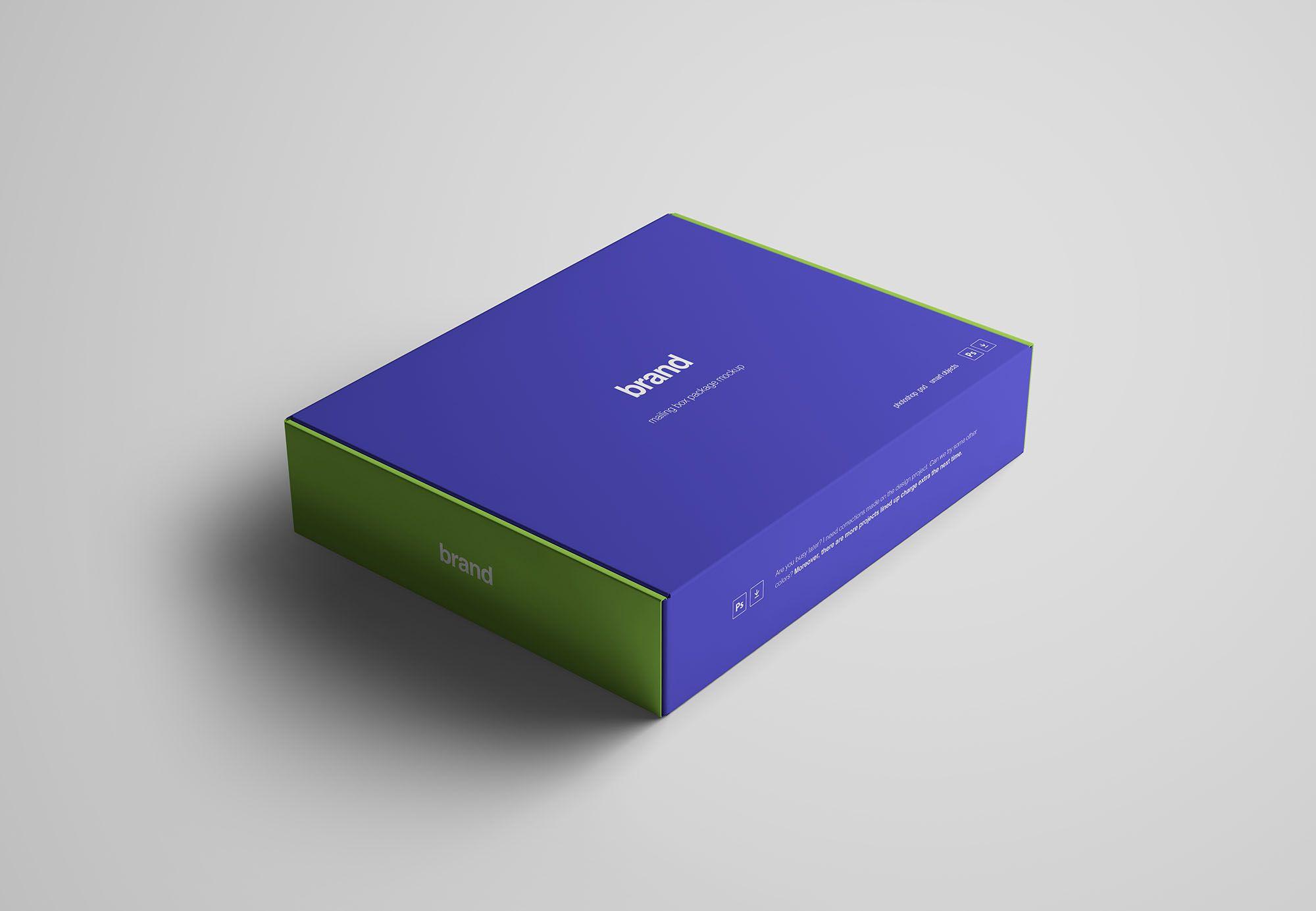 Download Advanced Package Box Mockup | Box mockup, Mockup, Box ...