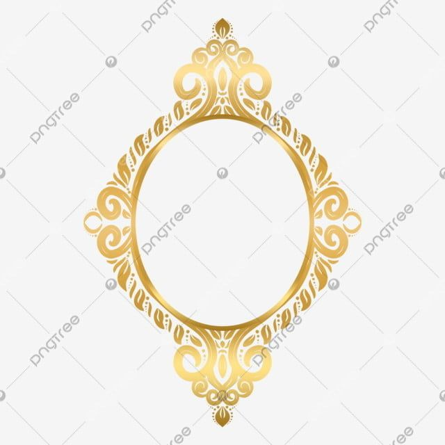 Decorative Islamic Frame Gold Circle Floral Ornament Decor Ornament Damask Png Transparent Clipart Image And Psd File For Free Download