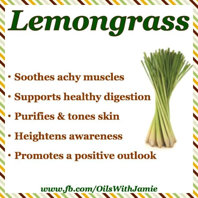 "LEMONGRASS has a pungent aroma that reminds me of a lemon drop candy. It's one of my favorite oils to diffuse because it just makes me smile :) It's also known as ""The Oil of Cleansing"" and is great for getting rid of toxic or negative energy."