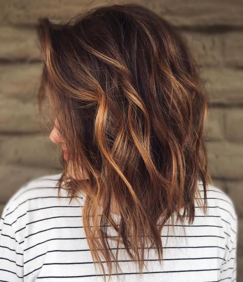 60 Spaß und schmeichelhafte mittlere Frisuren für Frauen #brownhaircolors