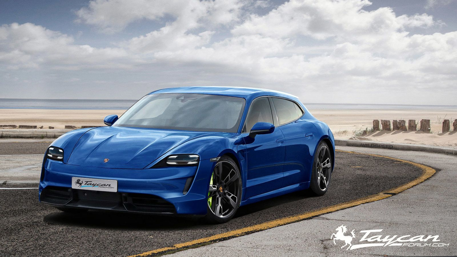 2020 Porsche Taycan Sport Turismo Ev Electric Sports Car New Tesla Roadster Porsche Taycan