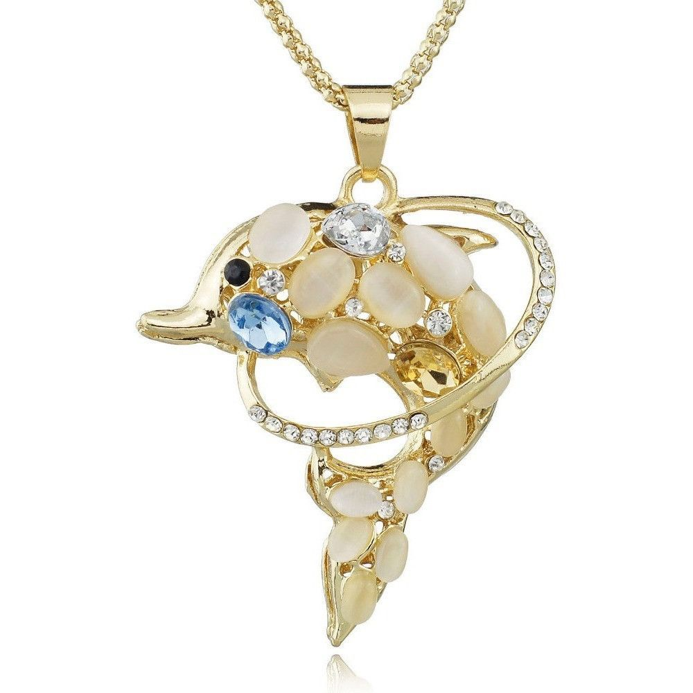Exquisite Crystal Dolphin Necklace