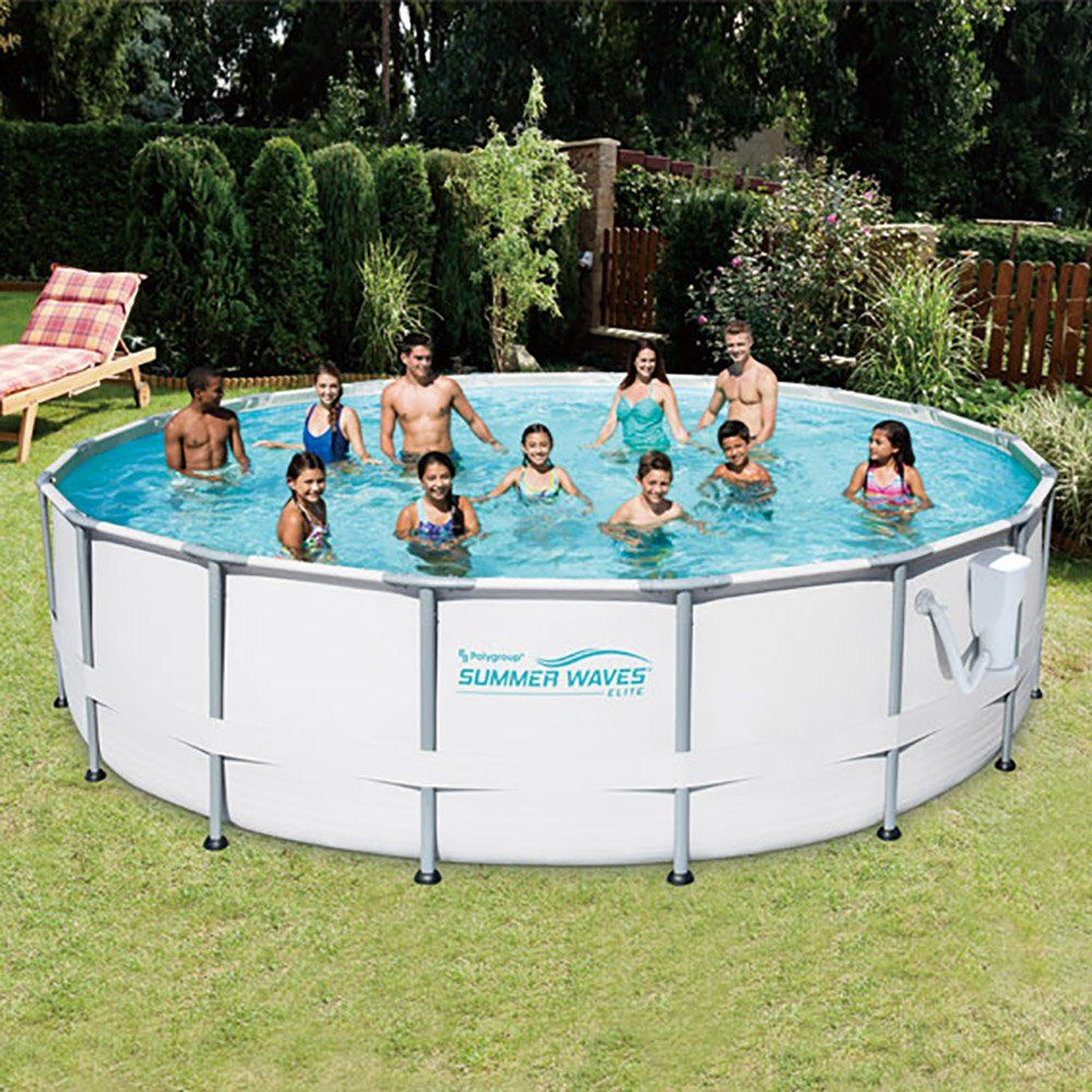 Summer Waves Elite 16-Foot Frame Pool Set with SFX1500 Pump
