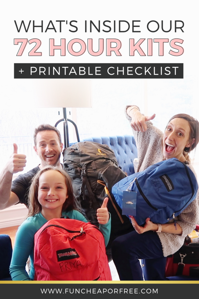 What to Pack in Your 72 Hour Kit - Fun Cheap or Free