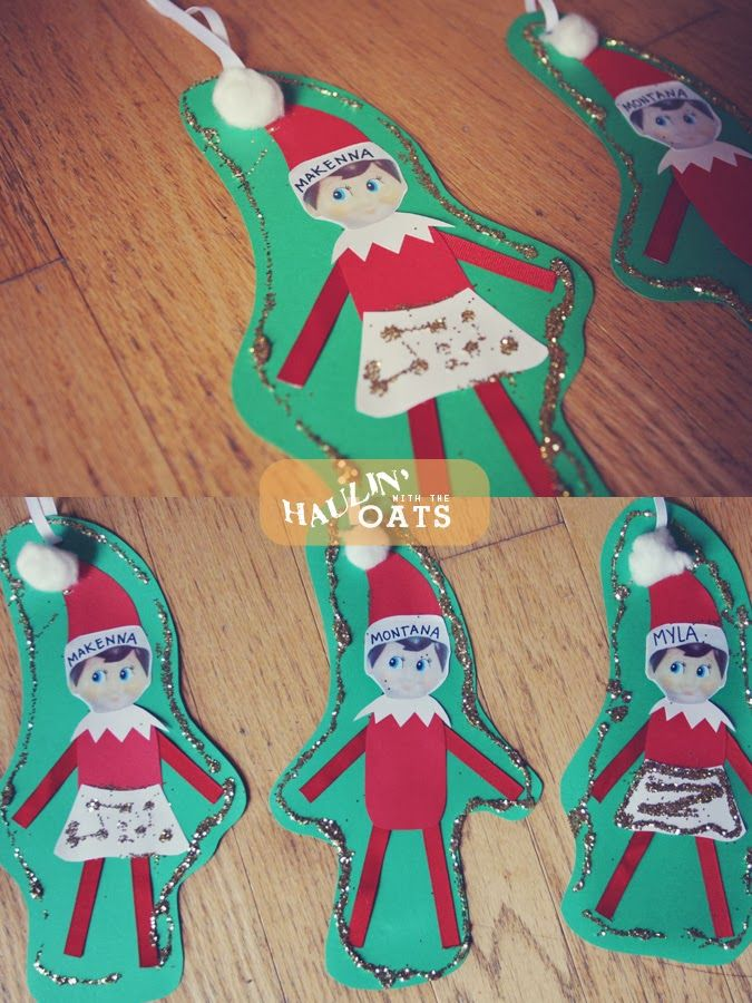 Elf on the Shelf Craft, Christmas kids craft, Elf on the Shelf